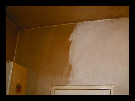 efekty mycia ściany w kuchni